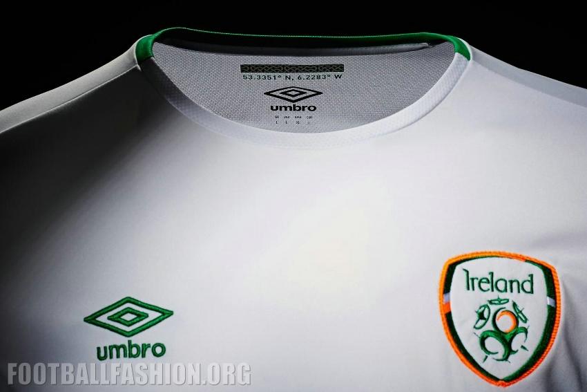 Ireland White Euro  Umbro Away Football Kit Soccer Jersey Shirt