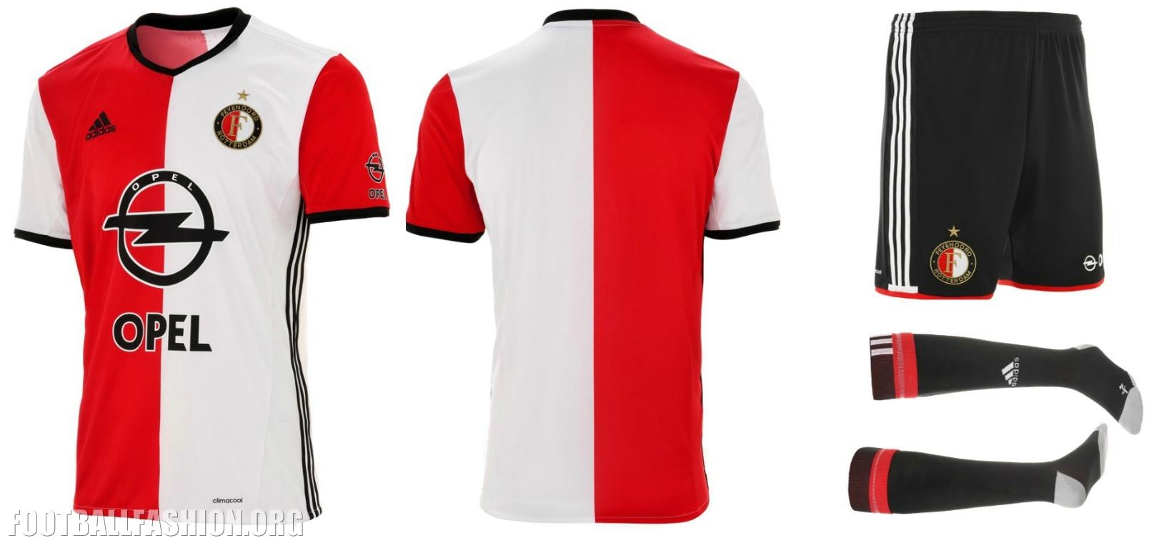 ... adidas Home Football Kit, Soccer Jersey, Shirt, Thuistenue, Thuisshirt: footballfashion.org/wordpress/2016/06/26/feyenoord-rotterdam-201617...