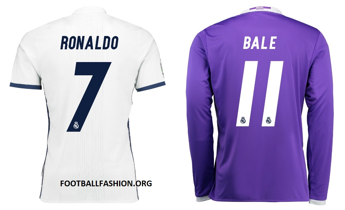 Real Madrid 2016/17 adidas Home and Away Kits