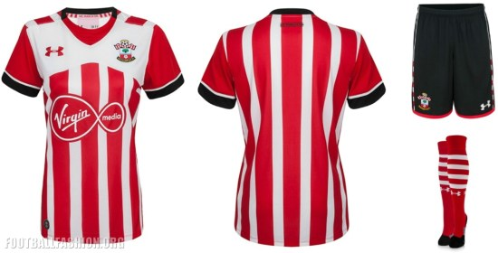514aae786 Southampton FC 2016 17 Under Armour Home and Away Kits - spnfutbol