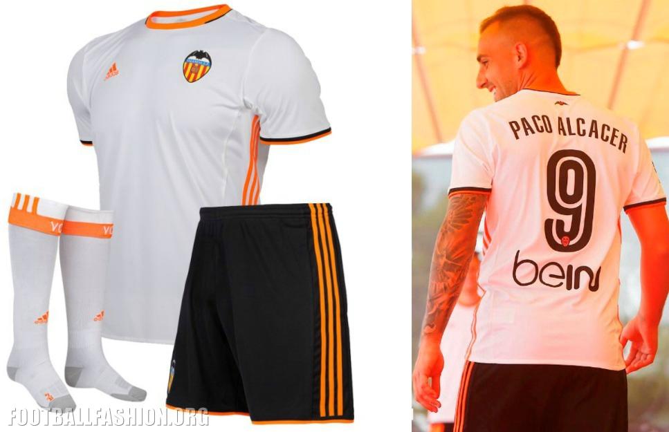 Valencia Cf Enam Tujuh Adidas Home And Away Kits Football Fashion Org
