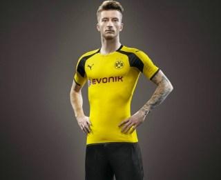 Borussia Dortmund 2016/17 PUMA UEFA Champions League Home Kit