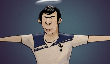 Gareth Bale Cartoon Spurs Halo Hero Tottenham