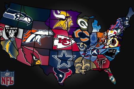 image gallery nfl us map