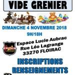 VIDE GRENIER DU 4 NOVEMBRE 2018