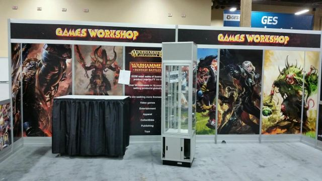 This is the booth of a company looking to sign some licensing agreements.