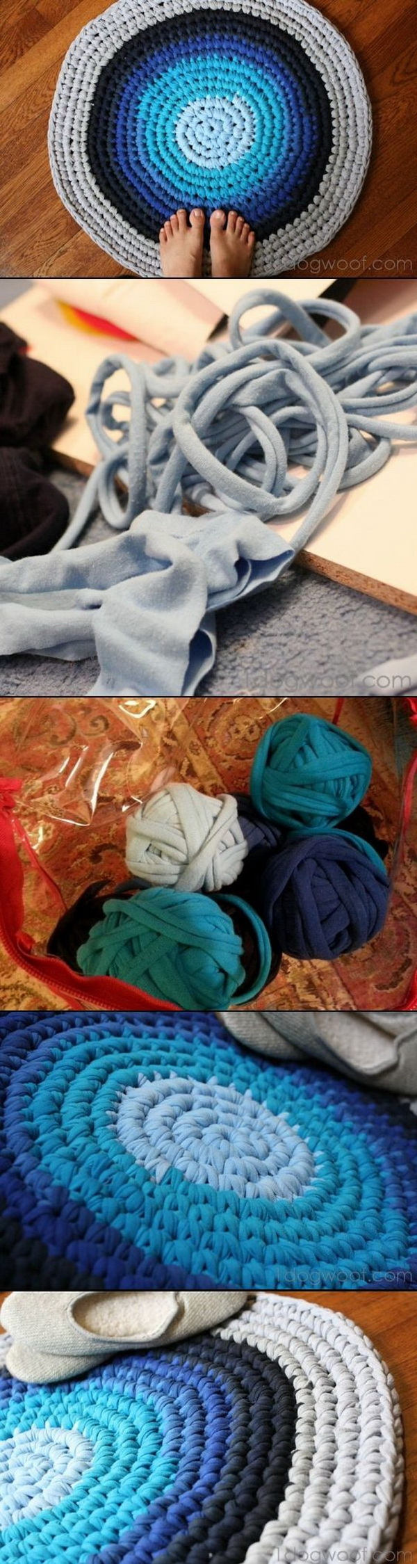 Easy crochet projects for beginners for creative juice for How to make rugs out of old t shirts