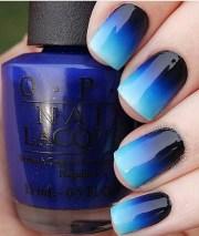 blue nail art ideas - creative