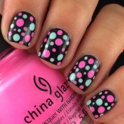 pretty polka dots nail design
