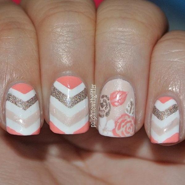 60 beautiful chevron nail art designs for creative juice