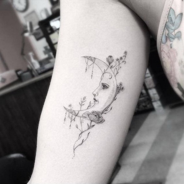 ... Examples of Amazing and Meaningful Moon Tattoos - For Creative Juice