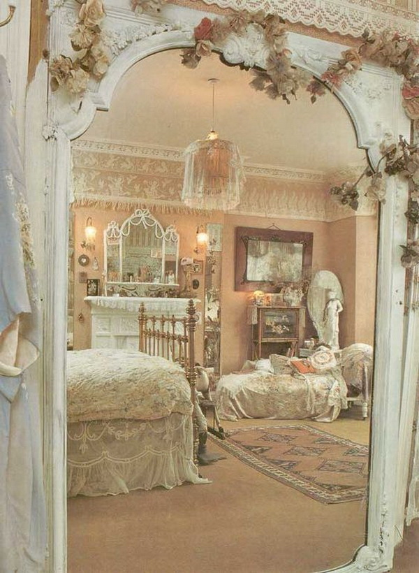30 cool shabby chic bedroom decorating ideas for for Shabby chic cottage decor