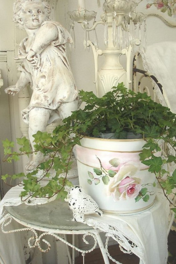 25 pretty shabby chic decoration ideas for creative juice - Papier peint shabby chic ...