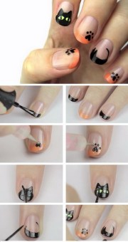 diy halloween nail art design