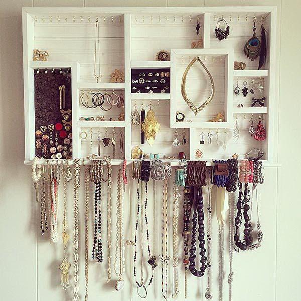 30 Brilliant DIY Jewelry Storage & Display Ideas