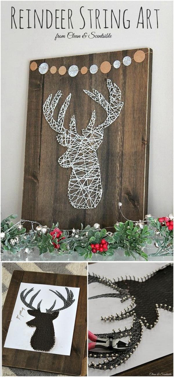 35 cool diy rustic christmas decoration ideas tutorials for Art craft for christmas decoration