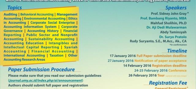 Undangan Rakornas DPN FORDEBI dan ICAF UMY Yogyakarta 2016