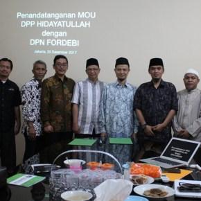 Hidayatullah dan Fordebi Jalin Kerjasama Implementasi Kesejahteraan Semesta