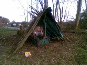 Den on the towpath.