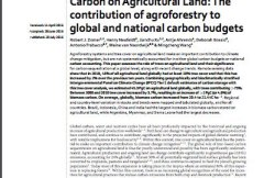 Global Tree Cover and Biomass Carbon on Agricultural Land: The contribution of agroforestry to global and national carbon budgets