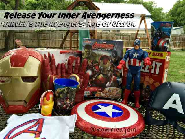 Iron Man and Captain America costumes and toys