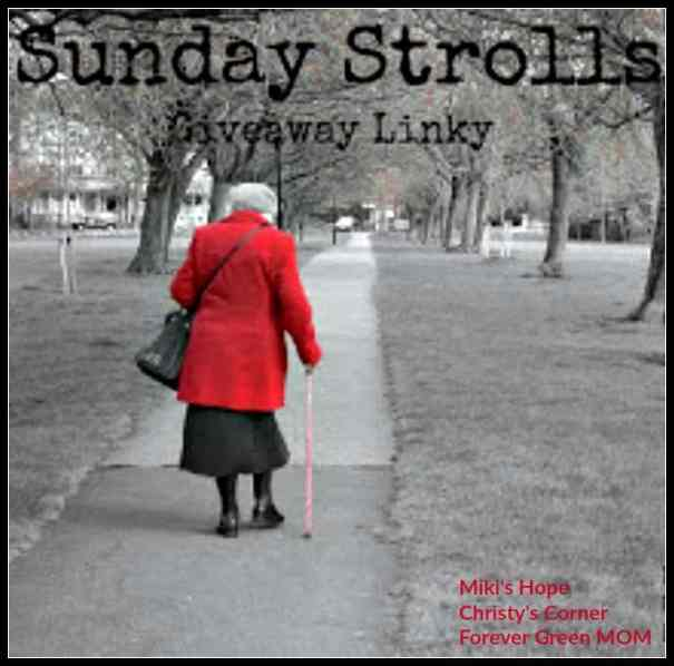 Sunday Stroll Giveaway Link Up - 9/25/16