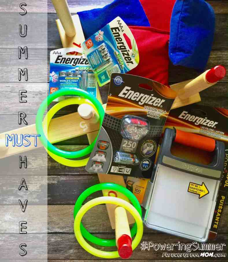 Energizer batteries and products for all your summer must haves #PoweringSummer #ad
