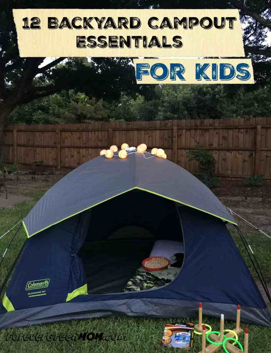 12 Backyard Campout Essentials for Kids + Energizer Pack Giveaway $90 Value