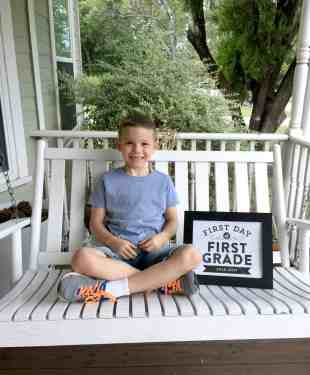 Back to School for Brody – First Grade…here I come!!