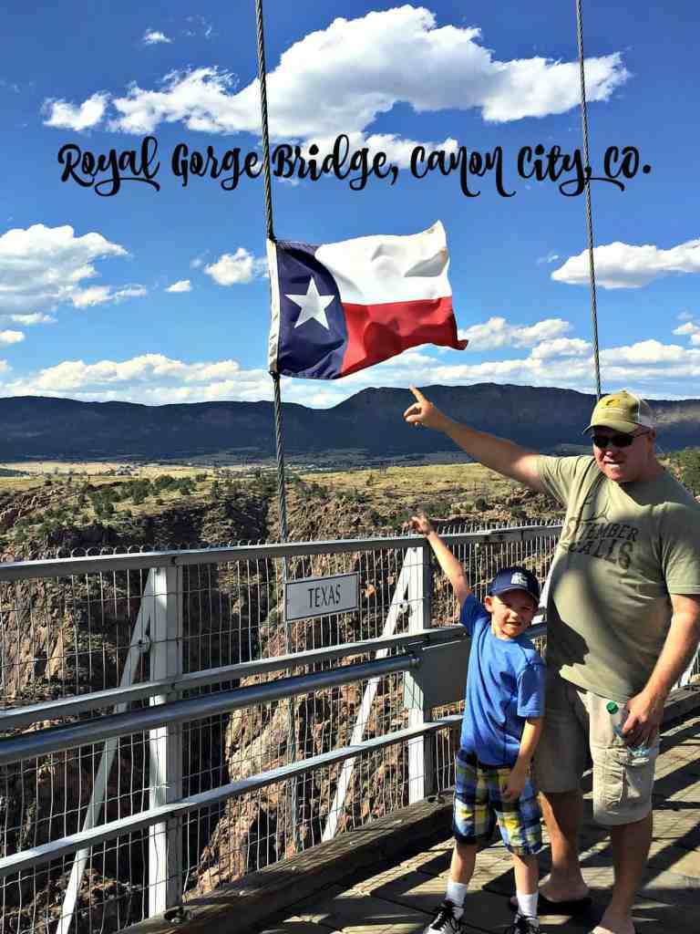 Family Vacation Royal Gorge TEXAS Flag