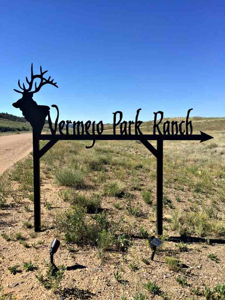 Vermejo Park Ranch sign as your entering the ranch
