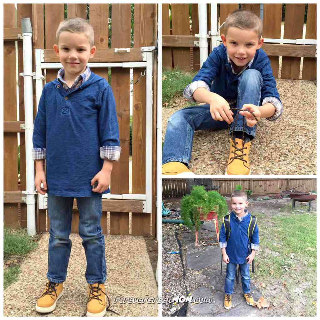 OshKosh blue jeans outfit for boy