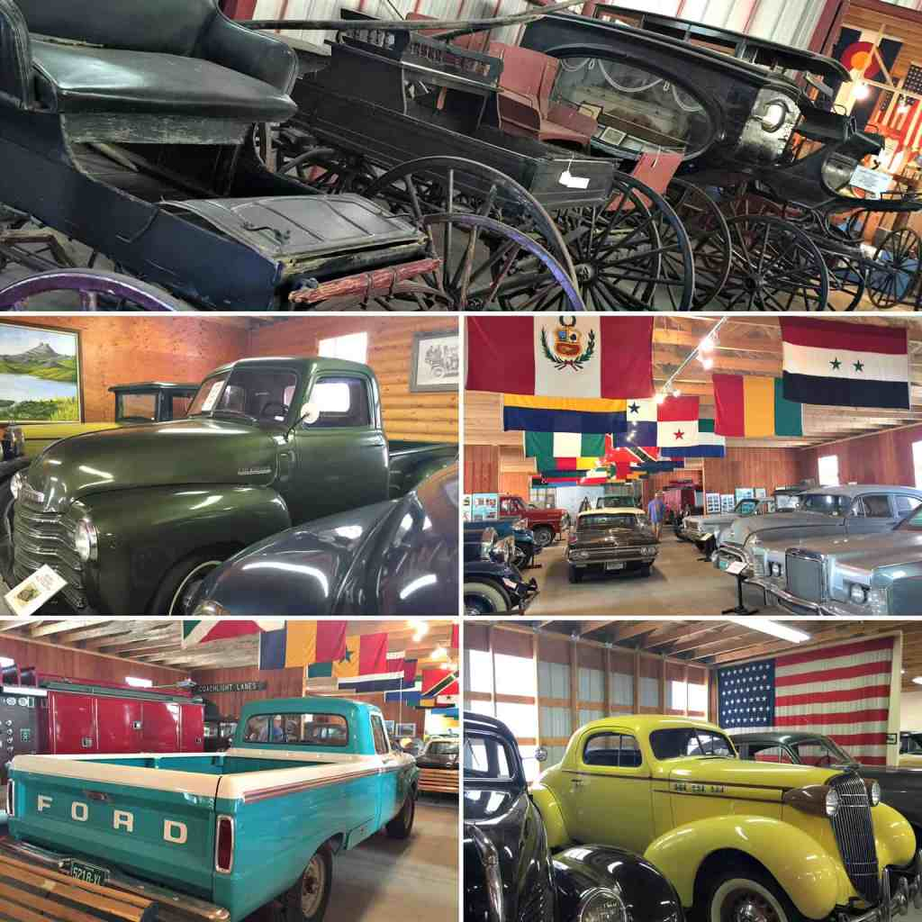Pioneer Museum Gunnison CO old cars collage