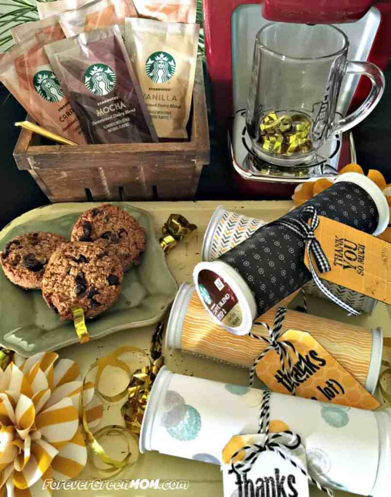Recyclable K-Cup Pods Party Thank you Favors #StarbucksCaffeLatte #MyStarbucksatHome #ad