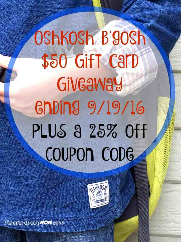 Back to School Shopping with OshKosh B'gosh + A $50 GC Giveaway & 25% off Coupon Code