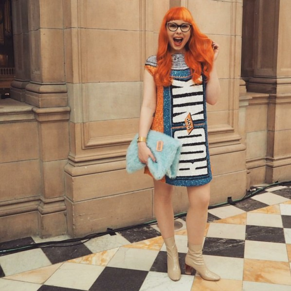 Who says dressing like your favourite drink can't be sexy? I loved getting my knees out with the Irn Bru dress by The Rodnik Band, Scottish Style Awards 2015