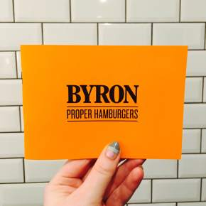 Proper burgers from Byron.