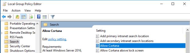 Cara Nonaktifkan Cortana Sepenuhnya di Windows 10