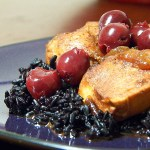 Sour Cherry Chicken with Black Rice