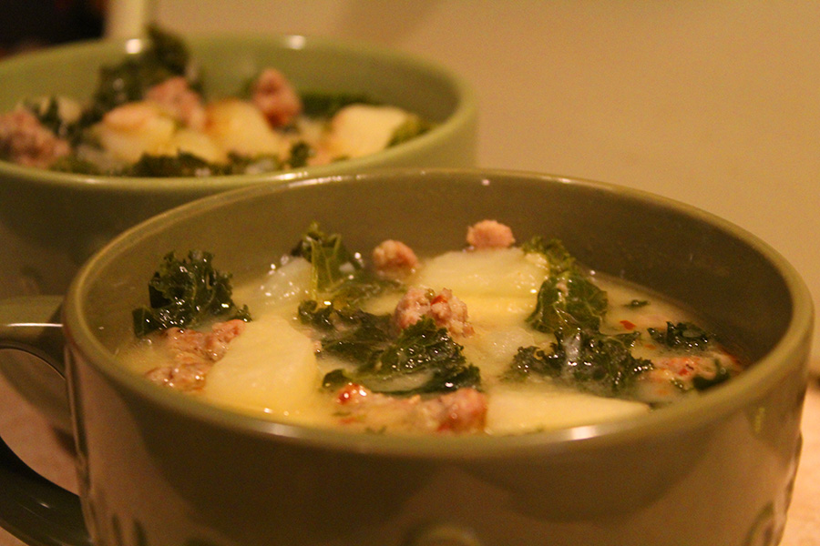 Tuscan Sausage Kale Soup Zuppa Toscana Esque Forkable