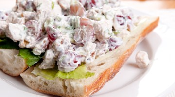 Chicken Salad Grapes Waldorf Style Salad with Walnuts Delicious Lunch Ideas