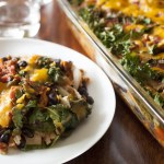 Easy Enchilada Casserole with Kale and Sweet Potatoes