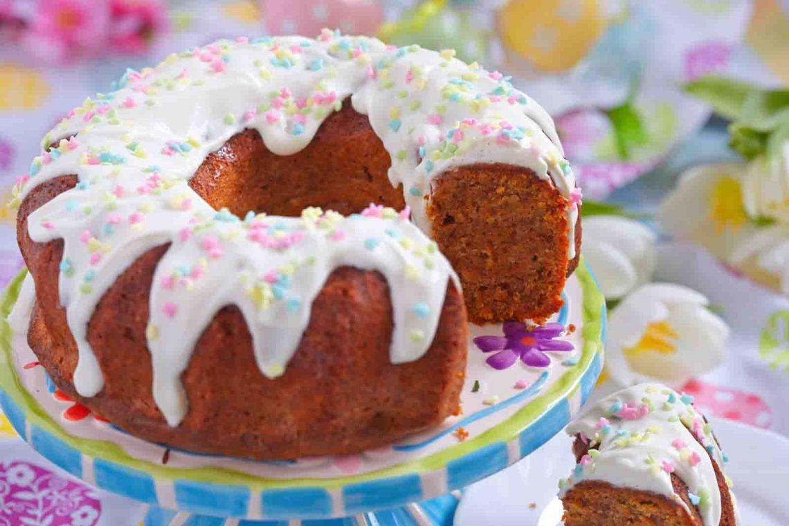 Easter Cake Bundt Cake Recipe with Sprinkles Dessert Ideas for Easter Brunch or Dinner