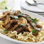 Easy Beef Stroganoff with Mushrooms