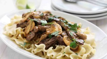 Easy Beef Stroganoff with Mushrooms Dinner Recipe