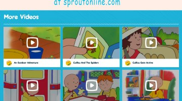 Watch Caillou Videos Free Online Cartoons for Toddlers