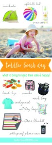 What to Bring to the Beach Toddler Vacation Checklist forkidsandmoms.com