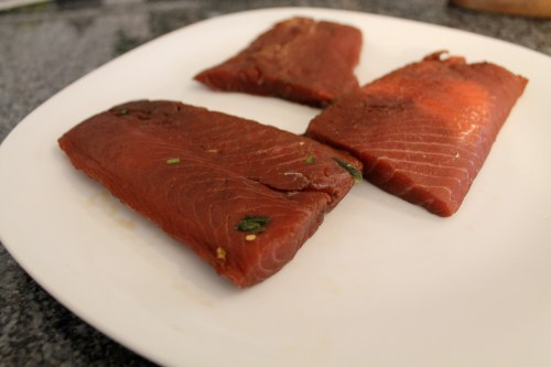 Salmon After Curing for 20 Hours