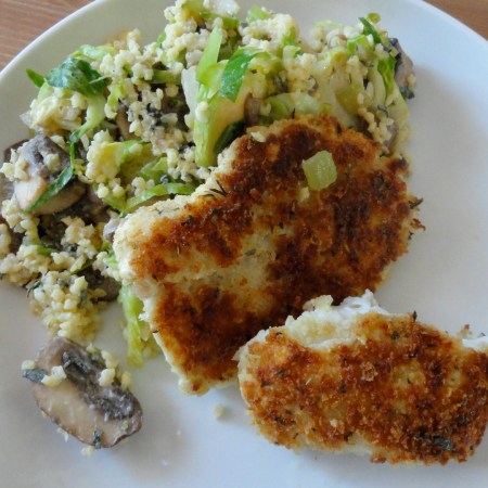 Warm Millet Salad and Pan-Fried Fish