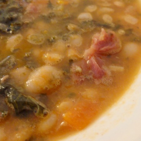 Cheap White Bean and Ham Soup